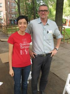 Con Thomas Hirschhorn al Gramsci Monument